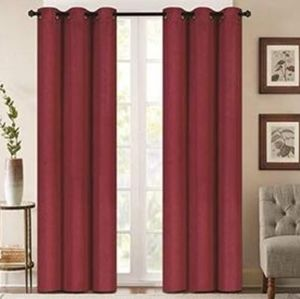 DENVER EMBOSSED GROMMET TOP CURTAINS